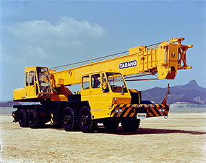 1971: Introduces the TG truck crane series.