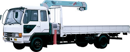 1991: Introduces world's first loader crane, MOMOCO, which features hook stowing device.