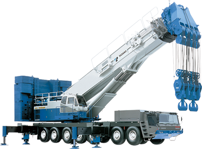 1998: Introduces the AR-5500M, the largest-capacity all terrain crane made anywhere in Japan, with a 550-ton lifting capacity.