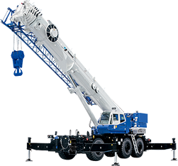 2013: Introduces the GR-1600XL (GR-1450EX), a rough terrain crane that boasts the highest lifting capacity in class worldwide.